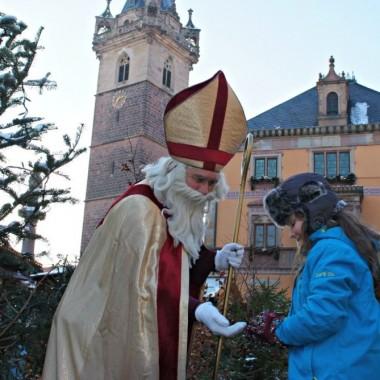 Santa Claus is visiting Obernai