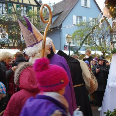 The dawdling of the alsatian Christmas characters