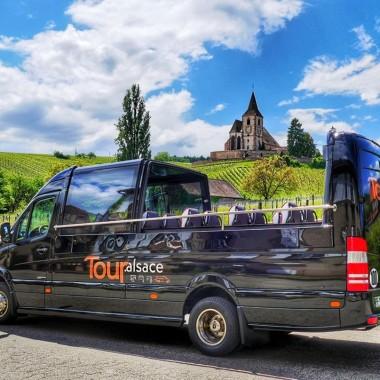 Ausflug im Cabrio-Kleinbus - Weinstraße zwischen Obernai und Haut Koenigsbourg