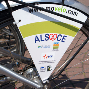 Movelo bicycle hire in Obernai