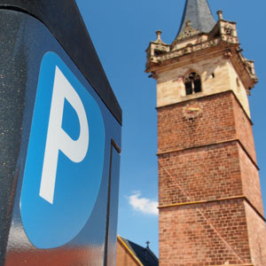 Free parking in Obernai